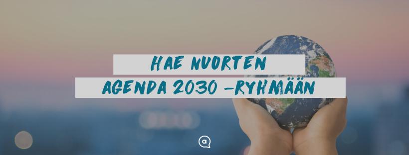 Tule mukaan Nuorten Agenda 2030 -ryhmään!